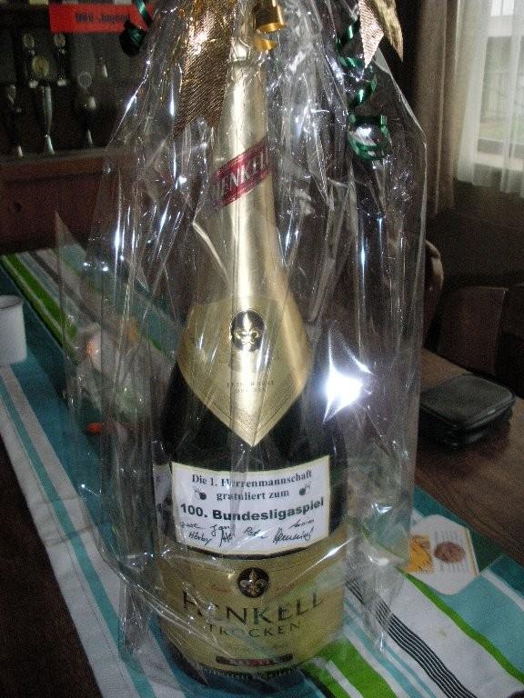 Die obligatorische Flasche