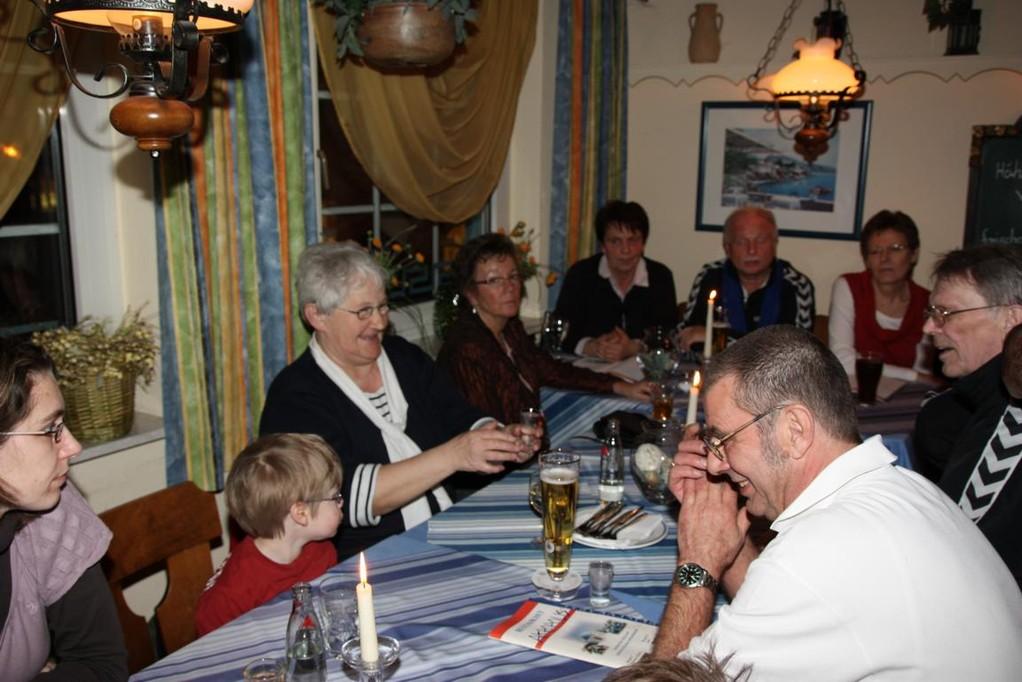 Abends beim Griechen