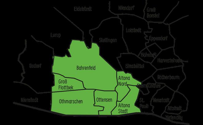 Karte von Altona