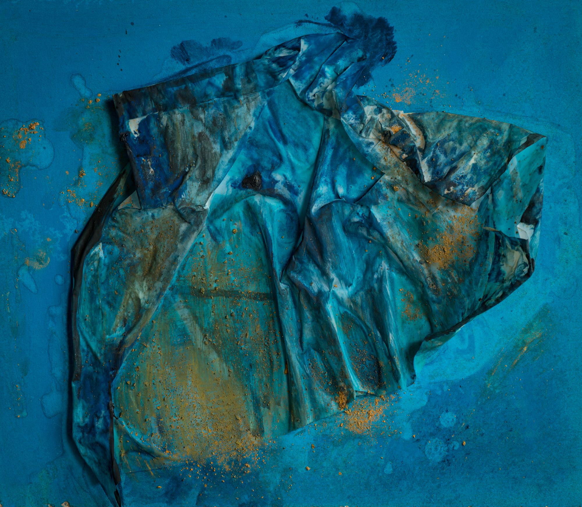"""Mantel"";Papier, Pigmente, Acryl; 30,5cm x 35cm"