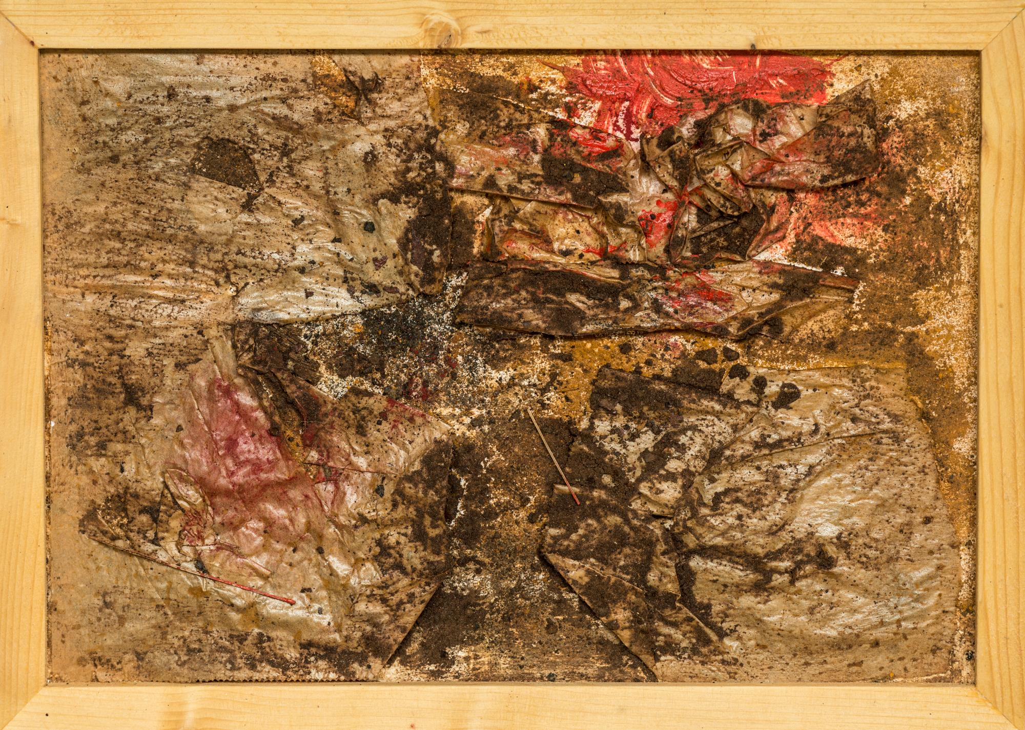 o. T. ; Papier, Acryl, Pigmente, Kaffeesatz; 35cm x 24 cm