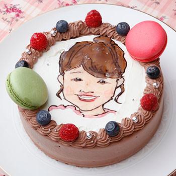 似顔絵ケーキ 誕生日ケーキ