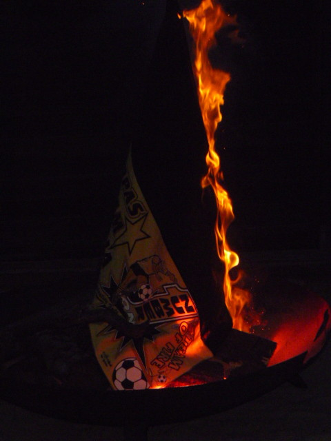 Und sie brennt