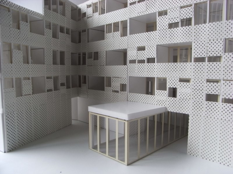 Modellfoto Fassade Innenhof