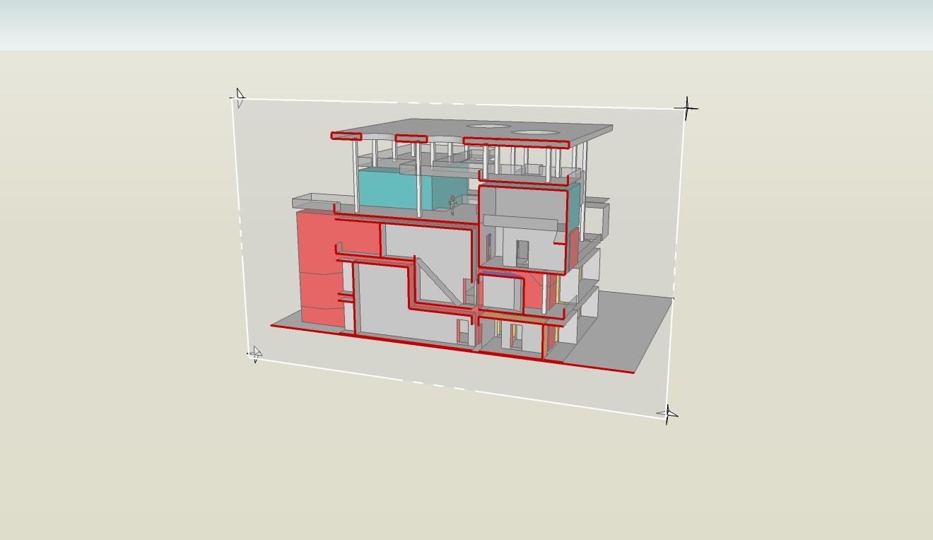 Le Corbusier - Haus Shodan (Schnitt)