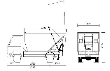Skizze Kleintransporter Pritsche / Kipper