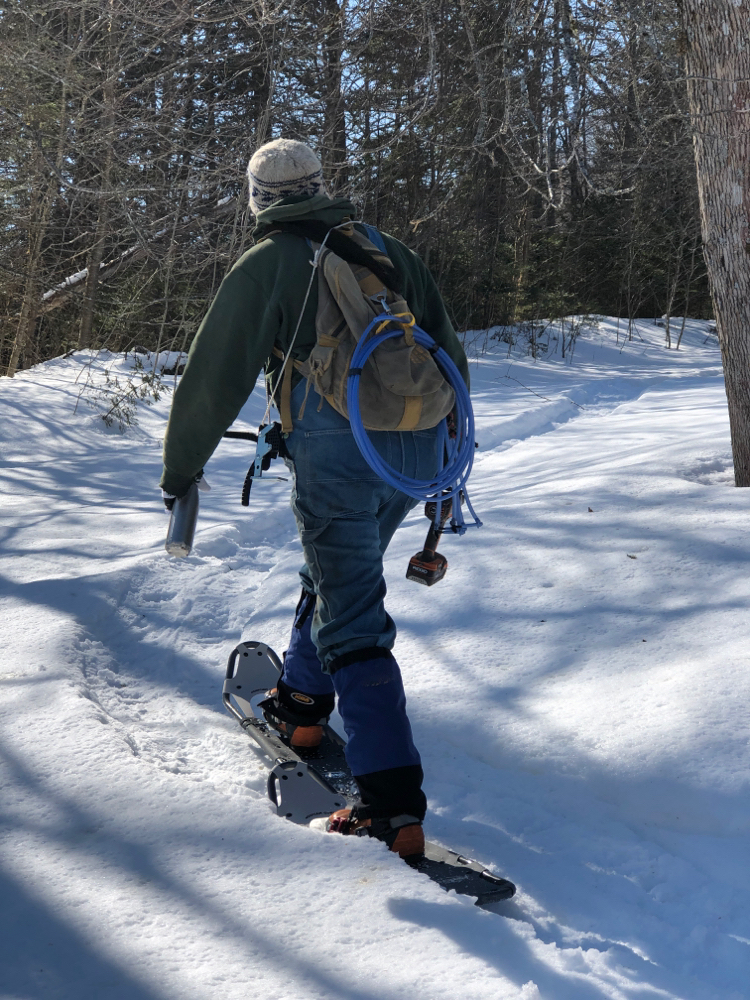 New snowshoes are great.