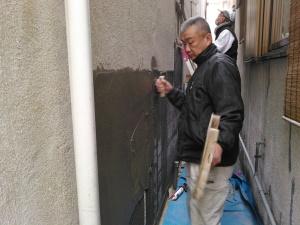 外壁や土間の左官工事もお任せ下さい。