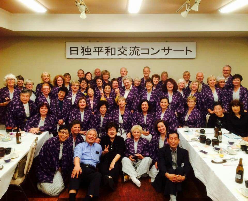 "15.10.16 Gruppenfoto im ""Yukata"""