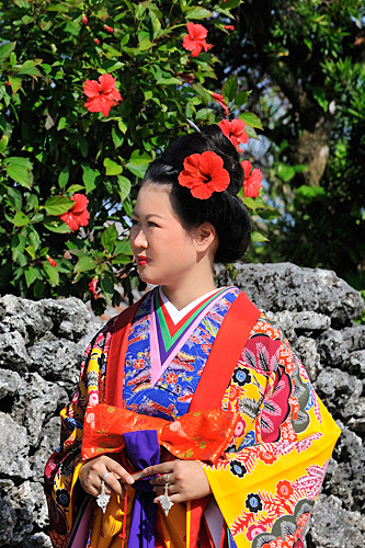 竹富島琉球衣装撮影