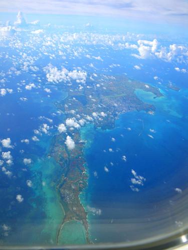 飛行機からの宮古島