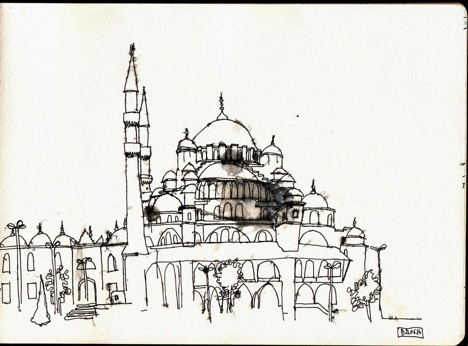 Istanbul! / La mosquée de Soliman le Magnifique sous la pluie