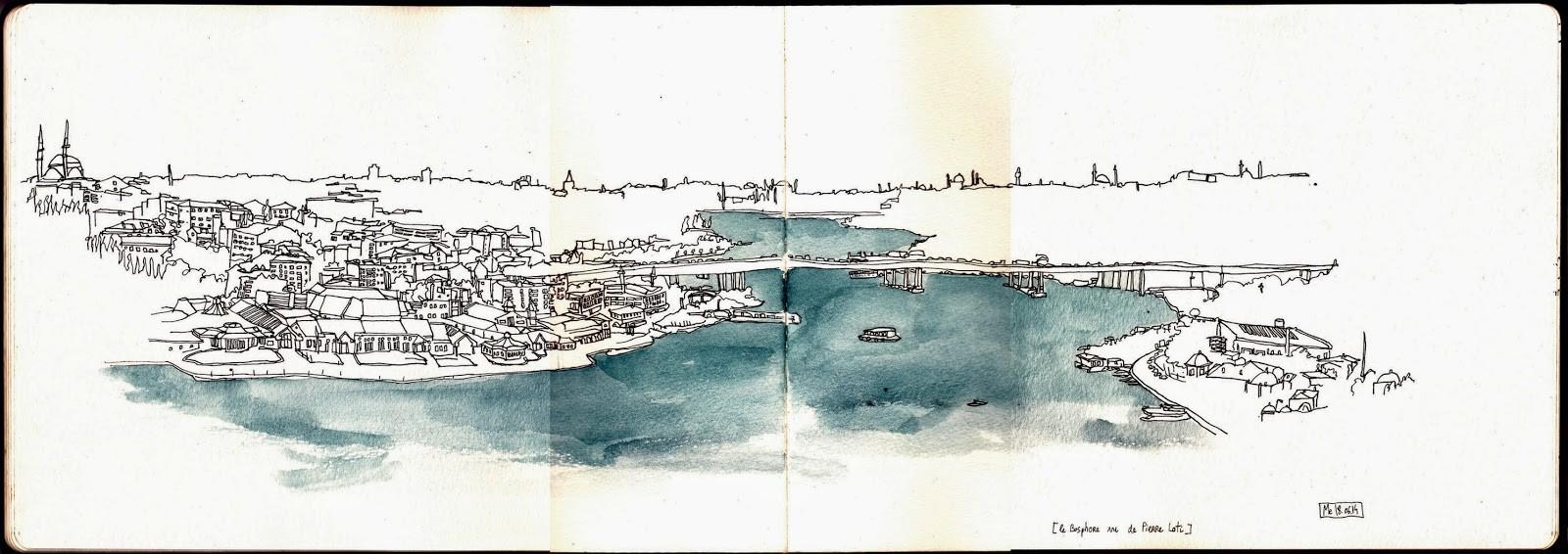 Istanbul! / Vue du parc Pierre Loti