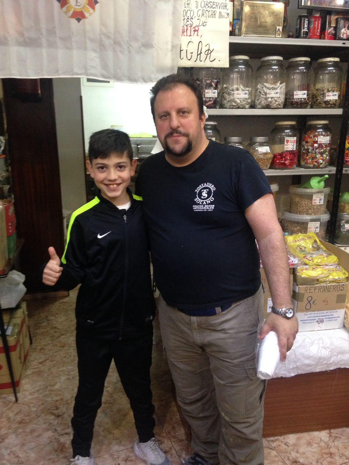 Eduardo Solano, junto con Dani Avila, futura promesa del Barça