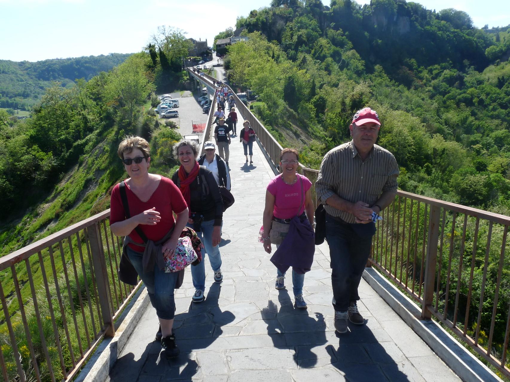 La montée du pont de Bagnoregio !