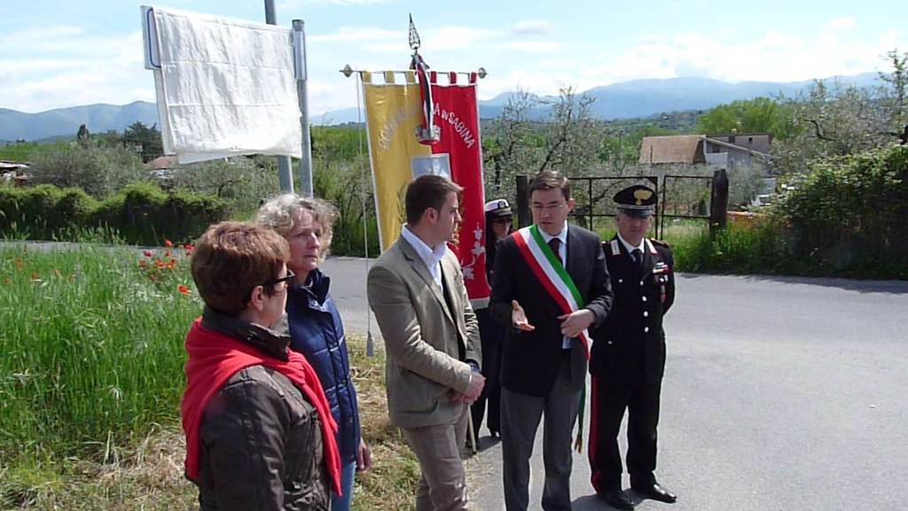 Inauguration de la Via Villemur à Fara Sabina.