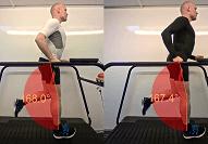Video-Vergleich zweier Laufschuhe auf dem Laufband