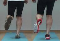 Video-Vergleich zweier Laufschuhe auf der Gehstrecke