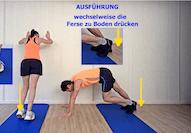 vom Physio empfohlene Stretching-, Kräftigungs- und Mobilisationsübungen für Jogger und Walker, im Video Schritt für Schritt erklärt