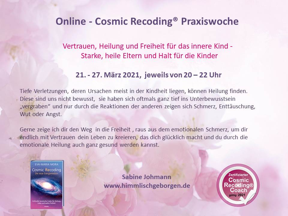 Online Cosmic Recoding®-Praxiswoche