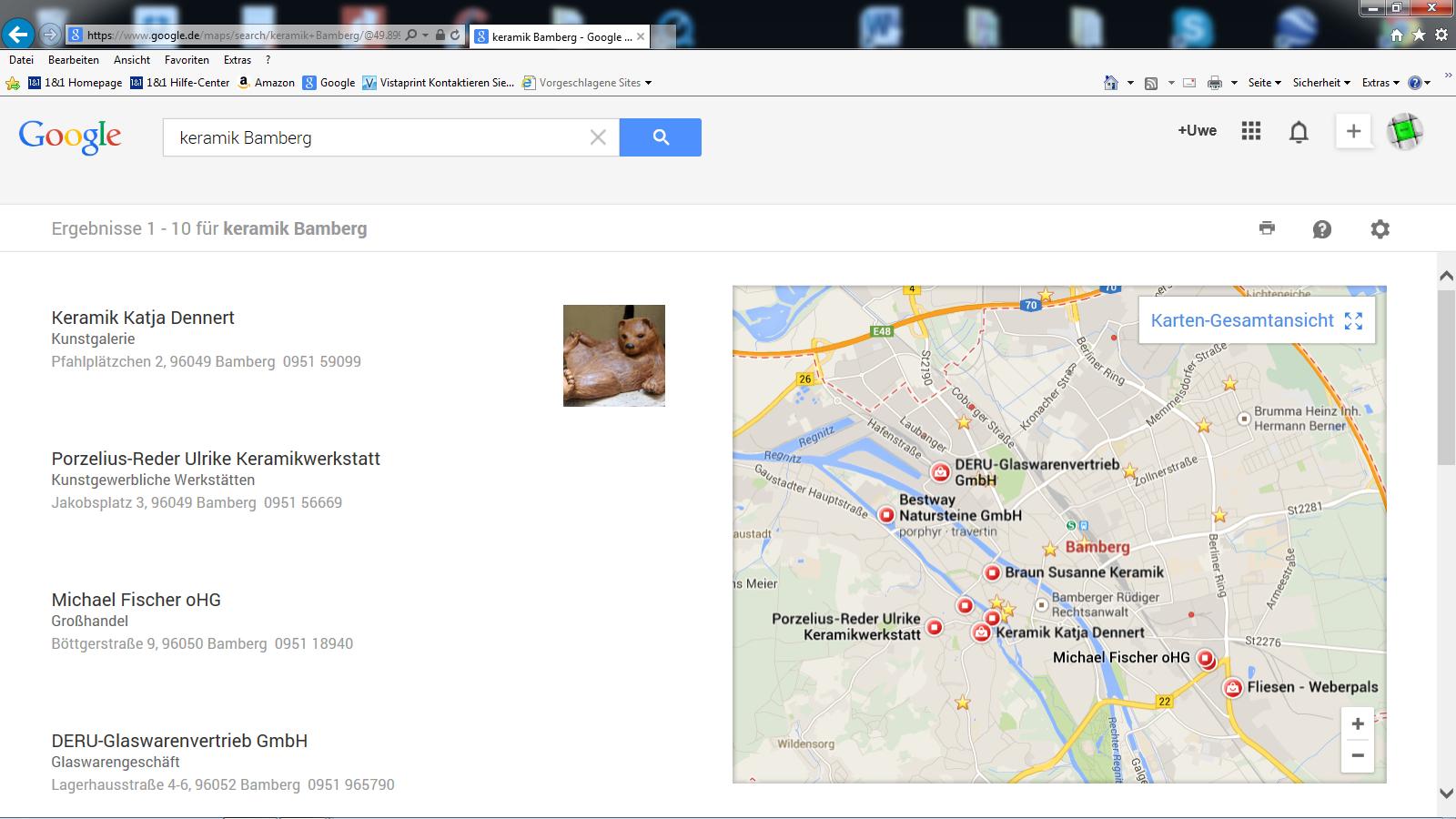 .... bei Google maps