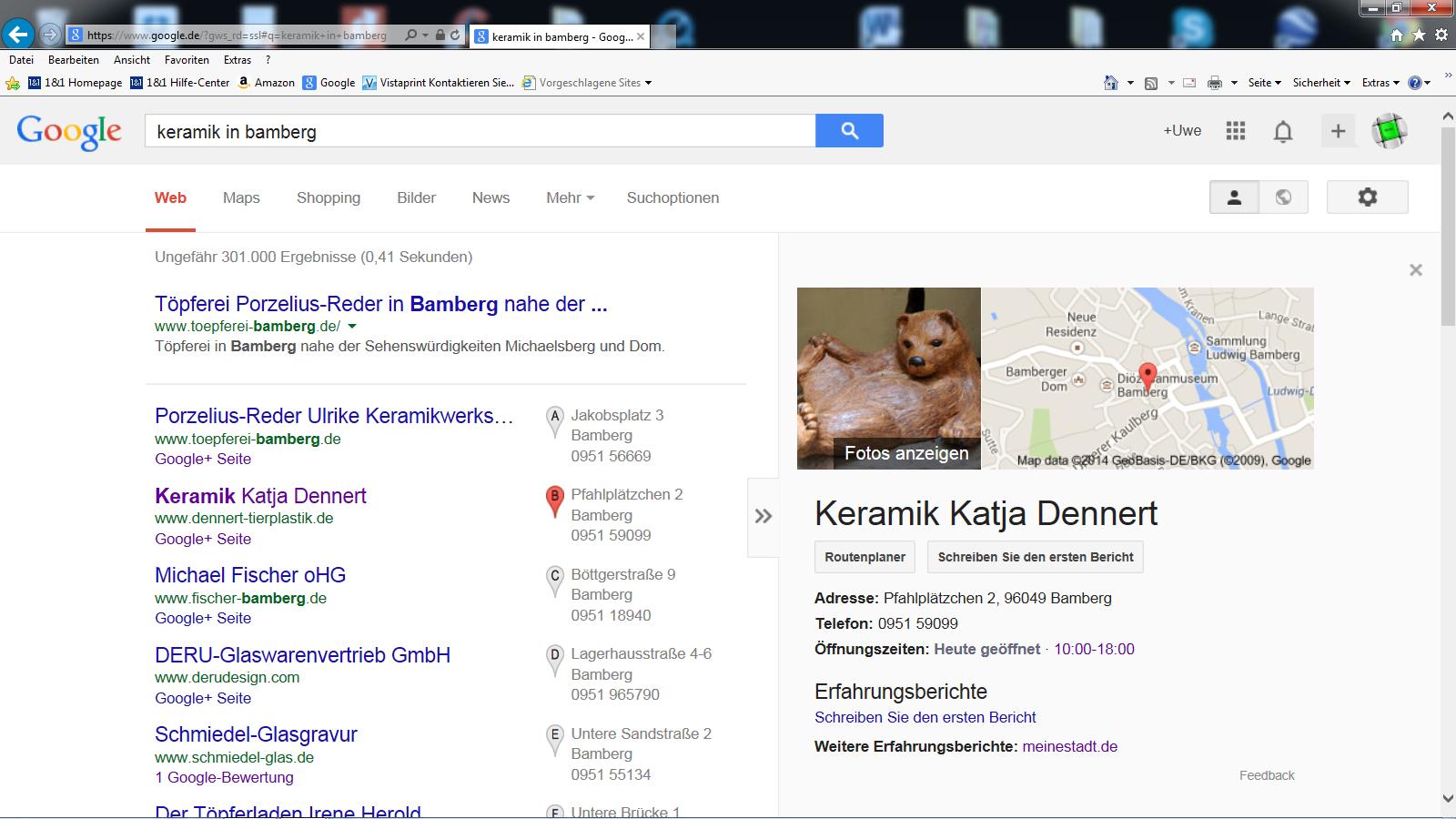 .... mit Profilbild Google 1. Seite