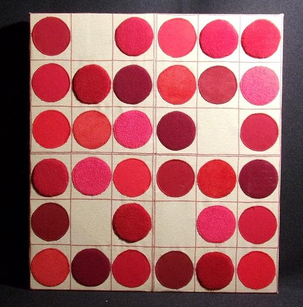 Réf : TI201905 - Tissus dans les tons rouge - 44 cm X 40 cm