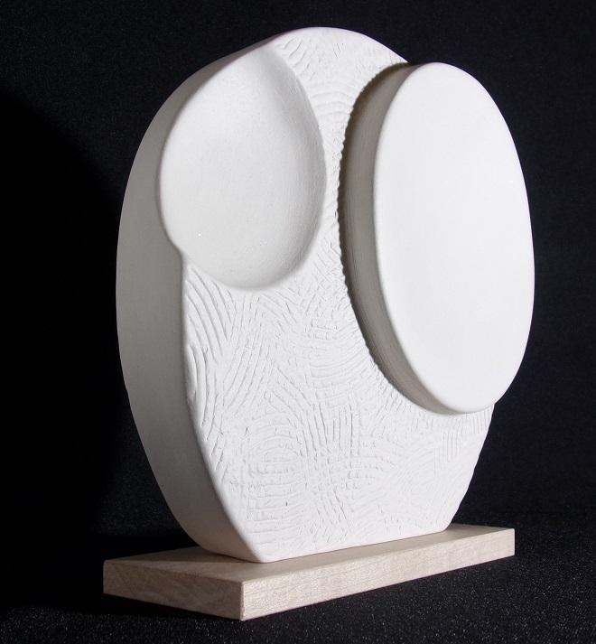 Réf : SC201907 - Faïence blanche - Diamètre 17 cm