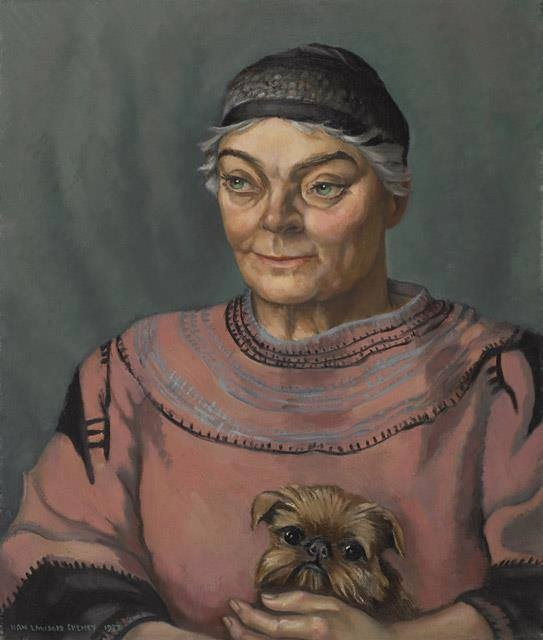 "Anna ""Nan"" Gertrude Lawson Cheney, Portrait of Emily Carr, 1937, oil on canvas, National Gallery of Canada."