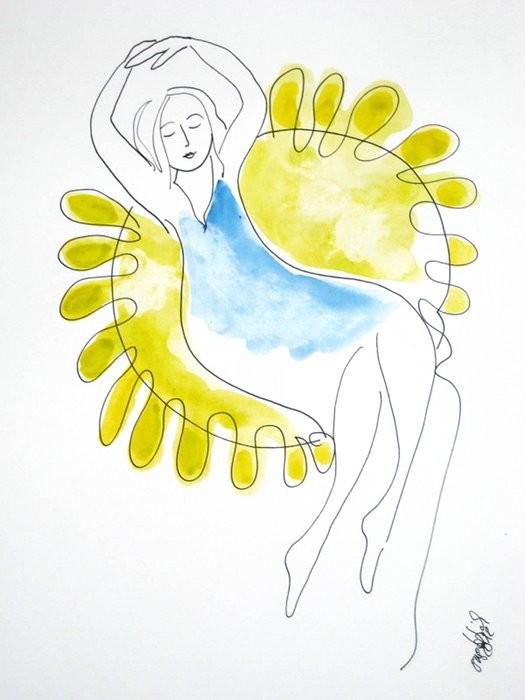Sonnenanbeterin