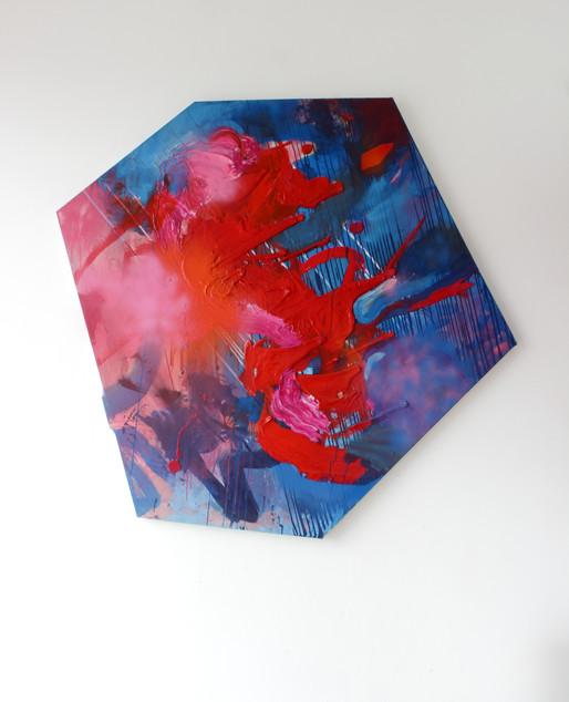 N.T., 2014, mixed technic on canvas, 165x150cm ca. Foto: Stephanie Wächter