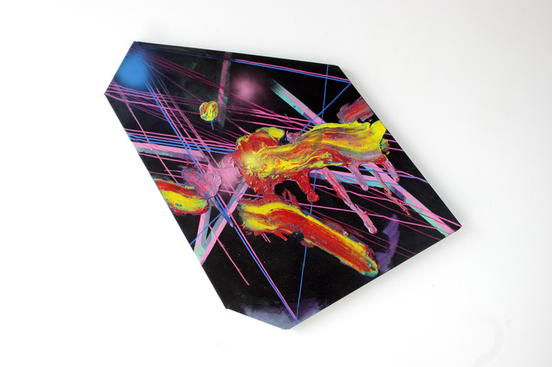 N.T., 2015, mixed technic on canvas, 105x90cm ca. Foto: Stephanie Wächter