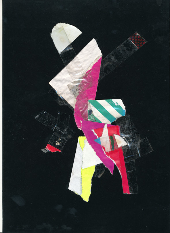 Lerchenfelderstrasse  series, collage#7, 2014, founded  taped poster rests, 29,7x21 cm