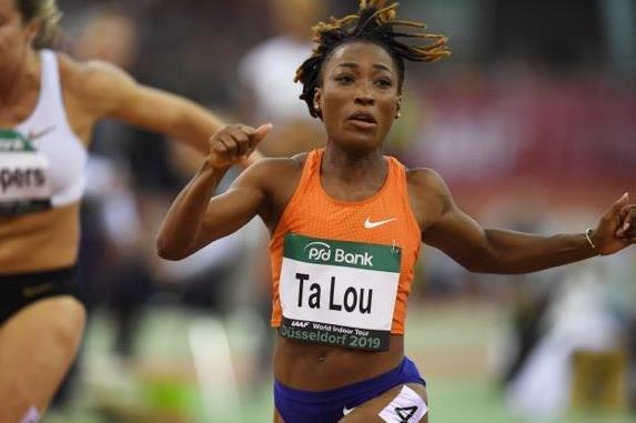Marie-Josee Ta Lou gana los 60 metros en la reunión de la IAAF World Indoor Tour en Dusseldorf (Gladys Chai von der Laage) © Copyright