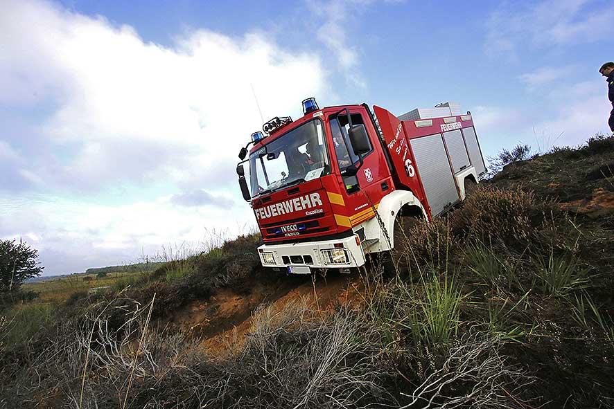 Allrad Training mit der Feuerwehr
