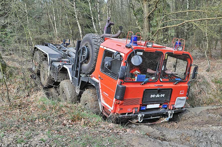 4x4 Training mit der Feuerwehr