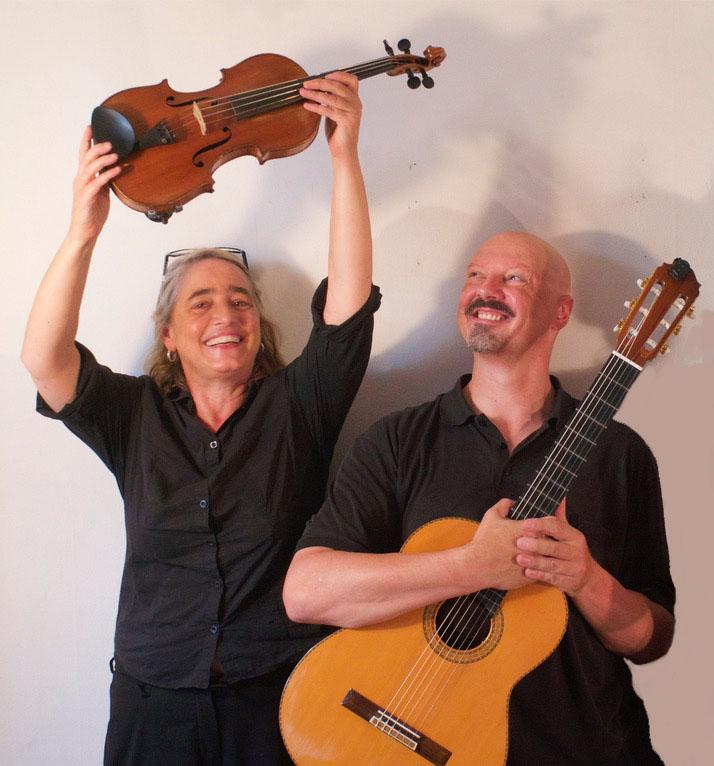 """Duo """"Diez Cuerdas"""" / Annette Rüegg - Violine / Thomas Jaeger - Gitarre"""
