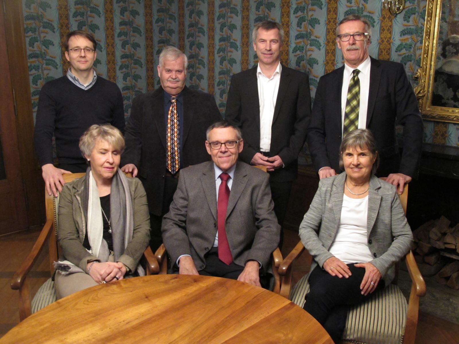 Vorstand 2016: Gabi Striffler, Urs Bachmann (Präsident), Lilo Dainese, Markus Merz, Ueli Widmer, Kuno Schumacher, Dölf Pfister