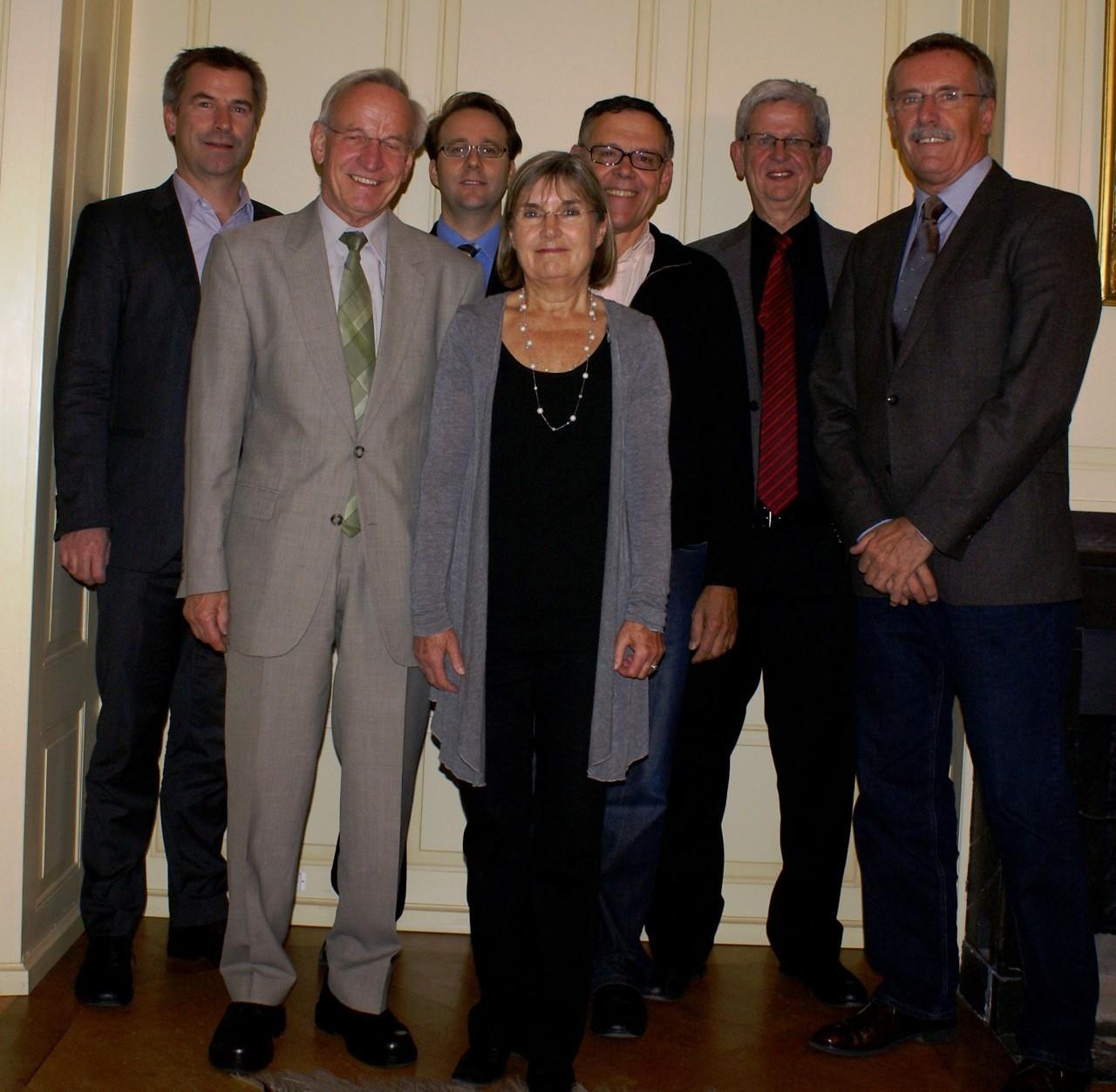 Vorstand 2012: Kuno Schumacher, Hans Hotz, Markus Merz, Lilo Dainese, Urs Bachmann, Magnus Würth (Präsident),  Dölf Pfister
