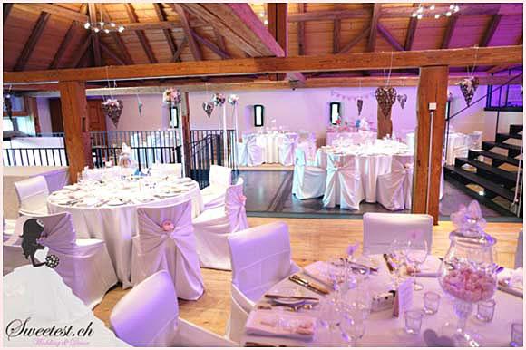 Dekoration & Organisation durch Sweetest Wedding - www.sweetest.ch