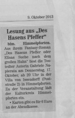 Buxtehuder Wochenblatt v. 09.10.2013