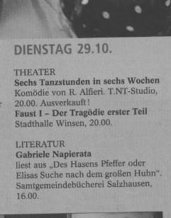Landeszeitung Lüneburg 27.10.2013