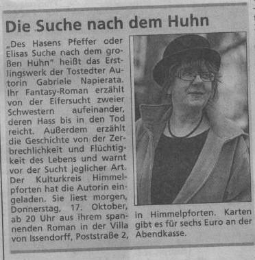 Mittwochjournal Tageblatt Neu Wulmsdorf v. 16.10.2013