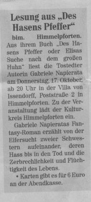 Neu Stader Wochenblatt v. 09.10.2013