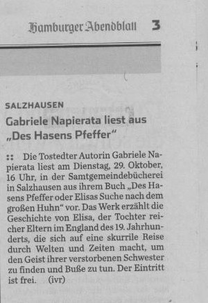 Hamburger Abendblatt v. 28.10.2013