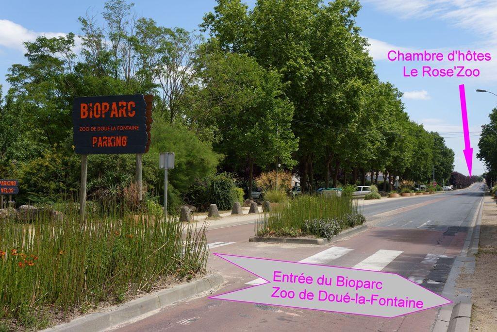 Chambre d'hôtes à 500 mètres du Bioparc Zoo de Doué-la-Fontaine