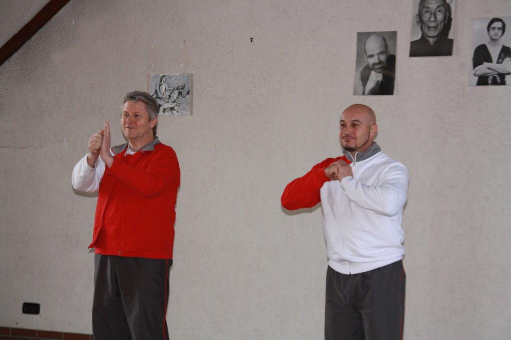 Sifu Rainer Tausend mit Sihing Michael Lindenmann