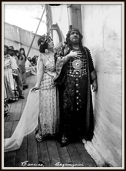 Camille Saint-Saëns SAMSON ET DALILA (Samson) - con Gabriella Besanzoni (Dalila) - Mexico City, Plaza de toros 05.10.1919