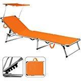 Sonnenliege Alu Sylt orange - Liege Gartenliege Strandliege Freizeitliege
