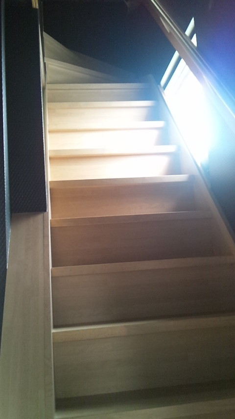 2階トレーニング室へ上がる階段